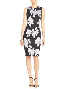 Our Macro Floral Jacquard Knit Dress makes a strong statement that's never over the top.
