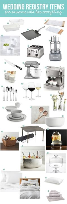 wedding registry items who have everything. Best items to register for for your wedding. Don& know what to register for and think you have everything? Check this list to see what items you should replace or add. Inexpensive Wedding Favors, Inexpensive Wedding Venues, Budget Wedding Invitations, Gifts For Wedding Party, Wedding Stuff, Wedding Programs, Wedding Things, Will Ferrell Wedding Crashers, Best Wedding Registry
