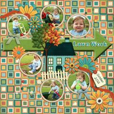 Scrapper Bowl 2013 - Template Challenge Credits:  1. Our House {from Block Party} by Kristin Aagard 2. Fuss Free: Now Showing Template 4 by Fiddle-Dee-Dee Designs