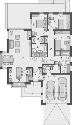 En Design Studio remodels new-build apartment in Israel to add character House Plans Mansion, Sims House Plans, Best House Plans, Dream House Plans, House Floor Plans, Classic House Design, Minimalist House Design, Small House Design, Building Design
