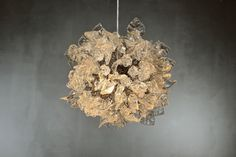 Ceiling chandelier. clear flowers and leaves. on Etsy, $483.43 AUD
