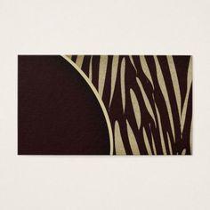Tiger Stripes Print Wild Safari Business Cards - stripes gifts cyo unique style