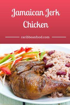 "Jamaican Jerk Chicken Caribbean Food This devilishly spicy Jamaican Jerk Chicken recipe is prepared using an exotic technique called ""jerk""."