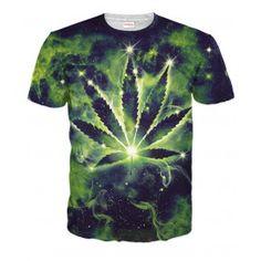 KOSMOS MARIHUNA Koszulka T-Shirt Full Print 3D Krótki Rękaw