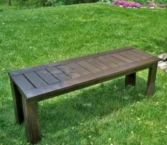 diy bench for picnic table