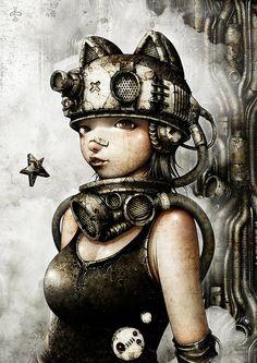 shichigoro-shingo on Tokyo Otaku Mode Arte Alien, Arte Robot, Steampunk Kunst, Steampunk Drawing, Cyberpunk Kunst, Tokyo Otaku Mode, Arte Horror, Photoshop, Pop Surrealism