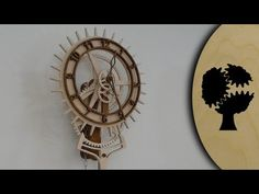 """Video of the weight driven Wooden Clock """"Korona"""" from Christopher Blasius"""