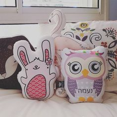 "64 Likes, 6 Comments - Modern & colorful designs (@avitalos_) on Instagram: ""#avitalos #abbydoll #bunnydoll #owldoll #owl #pinkpillow #babyroom #babyshower #girlsroomdecor…"""
