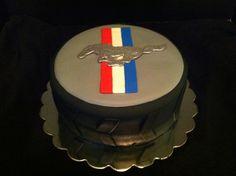 Cakes by Liz: Ford Mustang Tire Cake Ford Mustang, Mustang Cake, Car Cakes For Men, Cakes For Boys, New Birthday Cake, Birthday Parties, 9th Birthday, Birthday Ideas, Tire Cake