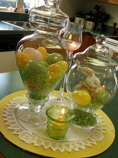 Ooooh, I've got these jars and used for fall and Christmas.  This is great idea for use in spring for Easter!