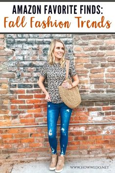 This year's fall fashion trends are the BEST! We have the best fall fashion finds from Amazon that are affordable and perfect for the cooler weather. #fallfashion #falltrends #fall #fashion #clothes #leopard #cardigan #booties #romper