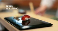 Lean tuna (akami) from the movie Jiro, Dreams of Sushi. Definitely a must see.