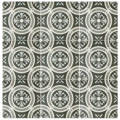 Merola Tile Vintage Classic 9-1/2 in. x 9-1/2 in. Porcelain Floor and Wall Tile (10.76 sq. ft. / case)-FCD10VTC - The Home Depot