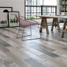 15x90cm Samba Multi Wood tile  Samba Multi is a mono chrome wood effect tile. A multi print tile with 9 different prints, each with a different wood effect and color, to give a rustic worn distress look to any floor or wall.   15x90cm matt wood effect floor tile made of porcelain with an ink jet digital print. Made by Yurtbay Seramik .