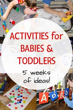 Activity ideas for babies and toddlers. Indoor, outdoor, and family ideas.