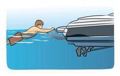 Teak surfing. Get your boat license at BoatTests101.com!