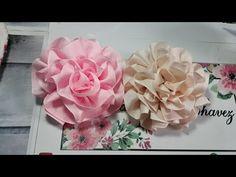 FLOR MAGICA ORIGINAL - YouTube Felt Flowers, Diy Flowers, Fabric Flowers, Paper Flowers, Ribbon Art, Diy Ribbon, Ribbon Crafts, Tutorial Rosa, Rose Tutorial