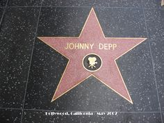 Johnny Depp - Hollywood Walk of Fame star received on November Wow just a couple days aftervi qas born Johnny Depp Chocolat, Hollywood Walk Of Fame, Hollywood Stars, Hollywood Boulevard, Tim Burton, Here's Johnny, Cinema, Captain Jack Sparrow, Helena Bonham Carter