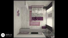 Bedroom design by Anita Ilie Casa Patrata Bathroom Lighting, Bedroom Ideas, Interior Design, Mirror, Projects, Furniture, Home Decor, Houses, Bathroom Light Fittings