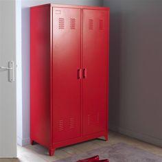 Lofter armoires et rouge - Armoire metal alinea ...