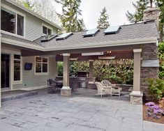 7 Blindsiding Ideas: Patio Interno Pergola patio lights in pots. Concrete Patios, Flagstone Patio, Outdoor Rooms, Outdoor Gardens, Outdoor Living, Outdoor Kitchens, Outdoor Patios, Outdoor Seating, Backyard Patio Designs