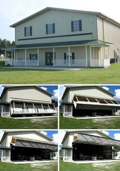 On a private grass airstrip in Florida sits a large ordinary-looking, two-story prefab home with everything one expects from domestic design: standard window sizes, white fences and a simple covered porch. Inside, however, there is enough space to fit a small personal aircraft.