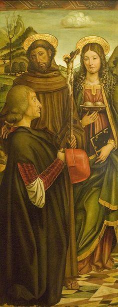 San Francesco, Sant'Agata e un donatore, Giovanni Martino Spanzotti,