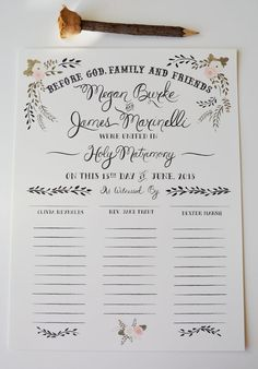 Custom Wedding Certificate/ Cream Background by firstsnowfall