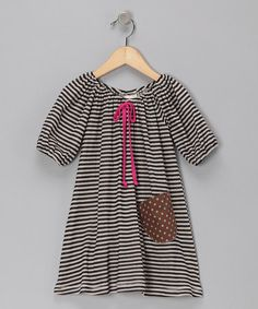 Take a look at this Black & Ivory Stripe Dress - Toddler & Girls by Buckleberry Kids on #zulily today!
