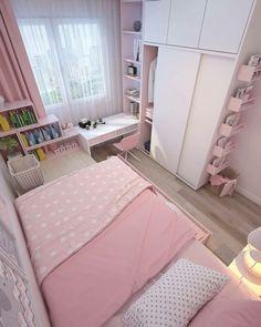 Small Room Design Bedroom, Girl Bedroom Designs, Room Ideas Bedroom, Home Room Design, Bedroom Decor, Bedroom Rustic, Small House Design, Decor Room, White Bedroom