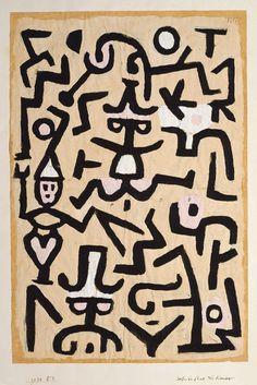 Paul Klee - 'Comedians' Handbill' - (1938)