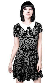 Voodoo Doll Dress [GREY]