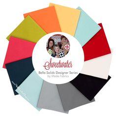 Sweetwater Bella Solids Designer Fat Quarter Bundle Moda Fabrics    Fat Quarter Shop