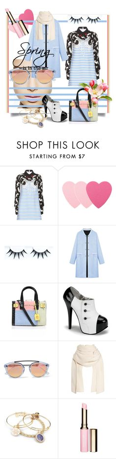 """Pastel Trench Coats"" by kari-c ❤ liked on Polyvore featuring Miu Miu, Sephora Collection, WithChic, Kurt Geiger, Westward Leaning, Alex and Ani, Clarins and pasteltrenches"