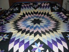 Vintage Lone Star quilt