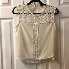 Cute crochet tank Very cute crochet tank. It's see through and very sexy. Great w a pair of shorts or jeans. Can be dressed up or down. Size large as a crop top but can fit a small or medium as well if not better. Not free ppl. Just used for publicity Free People Tops Tank Tops
