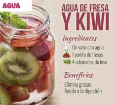 Kiwi water for your body Healthy Juices, Healthy Smoothies, Healthy Drinks, Smoothie Recipes, Healthy Snacks, Healthy Recipes, Healthy Water, Healthy Eating, Digestive Detox