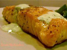 Receita de Salmão grelhado com molho de Iogurte e Limão .:. Kitchenet