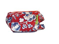Little Purse with Adjustable Strap and  Zipper Bags, Purses, Hand Bags, Shoulder bag - Red,White and Blue Fabric by HandmadebyNancie on Etsy