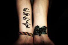 I love you sign tattoo