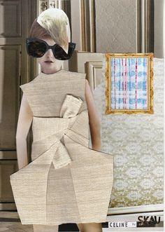 Celine A/W13 fashion illustration collage mixed media Sine Skau