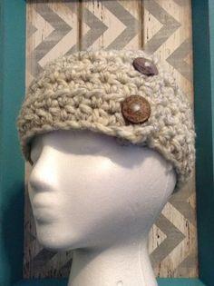 Women's Headband with Buttons Women's Headband Women's Earwarmer