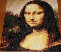 Mona Lisa portrait perler beads