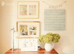 """dreamy"" home office/craft room decor!"
