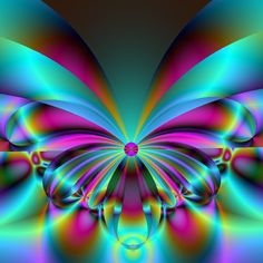 Blue Flower Wallpaper, Colorful Wallpaper, Butterfly Wallpaper, Dove Pictures, Beautiful Pictures, Cool Optical Illusions, Psychedelic Colors, Butterfly Pictures, Illusion Art
