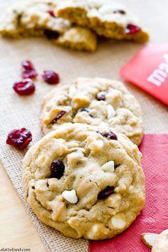 White Chocolate Cherry Almond Cookies