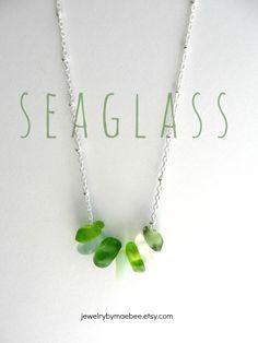 Seaglass Necklace from JewelryByMaeBee on #Etsy. #sfesty www.jewlerybymaebee.etsy.com