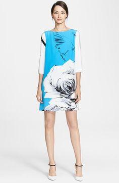 Prabal Gurung Rose Print Silk Shift Dress available at #Nordstrom - Adorable