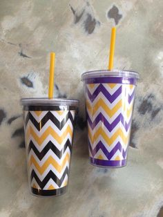 Fleurty Girl - Everything New Orleans - Chevron Tumbler - For the Home