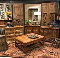 A collection of vintage furniture to complete the rustic look and inspire something different for your home decor.